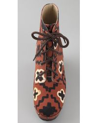 Opening Ceremony - Brown Joelle Canvas Clog Booties - Lyst