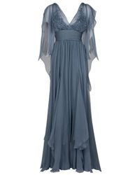 Eastland | Blue Sheer Sleeve Gown | Lyst