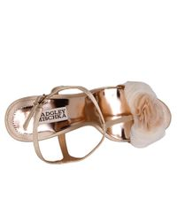 Badgley Mischka - Natural Lyndee Evening Wedge Sandals - Lyst