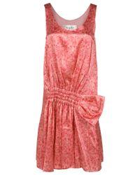 Rue du Mail | Pink Sleeveless Printed Dress | Lyst