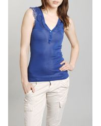 Vanessa Bruno | Blue Lace Tank in Azure | Lyst