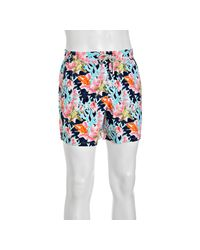 Vilebrequin - Blue Marine Ocean Print Moorea Swim Trunks for Men - Lyst