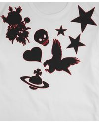 Vivienne Westwood | White Birds and Stars Print Top for Men | Lyst