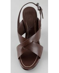 Ash - Brown Drew High Heel Sandals - Lyst