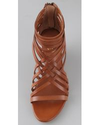 Ash - Brown Delicious Strappy Wedge Sandals - Lyst