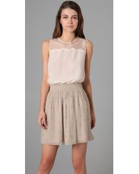 Club Monaco | Natural Morgan Lace Tank | Lyst