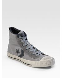 Converse | Gray Star Player Canvas High-tops for Men | Lyst