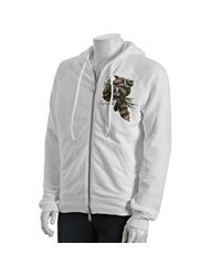 DSquared² | White Cotton Raccoon Print Zip Hoodie for Men | Lyst