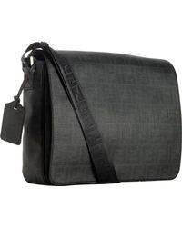 Fendi - Black Zucca Spalmati Messenger Bag for Men - Lyst