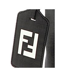 Fendi | Black Zucca Spalmati Messenger Bag for Men | Lyst