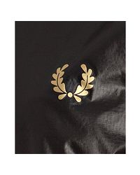 Fred Perry - Black Nylon Bomber Jacket for Men - Lyst