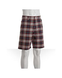 Fred Perry | Purple Burgundy Plaid Cotton Madras Shorts for Men | Lyst