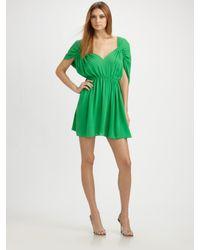 Halston | Green Dolman-sleeve Dress | Lyst