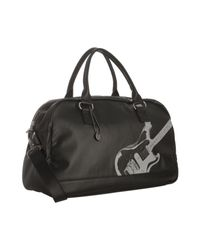John Varvatos - Black Coated Canvas Guitar Print Duffel for Men - Lyst