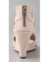 Joie - Natural Royce Washed Suede Wedge - Lyst