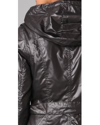 Mackage | Black Long Rain Jacket with Hidden Hood | Lyst