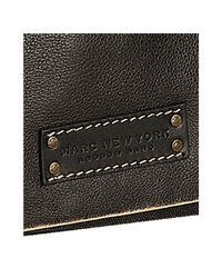 Marc New York - Black Leather and Denim Messenger Bag for Men - Lyst
