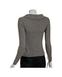 Boutique Moschino | Gray Grey Metallic Wool Ruffle V-neck Sweater | Lyst