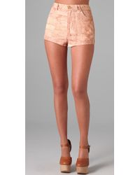 Opening Ceremony | Pink Cork Print Shorts | Lyst