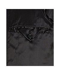 Prada - Dark Blue Wool Button Front Double Collar Coat for Men - Lyst
