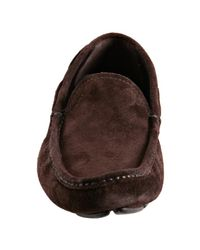 Prada | Brown Suede Driving Loafers for Men | Lyst