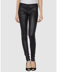 Snow From St Barth | Black Leather Leggings | Lyst