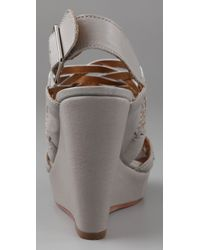Twelfth Street Cynthia Vincent - Metallic Jaden Wedge Sandals - Lyst
