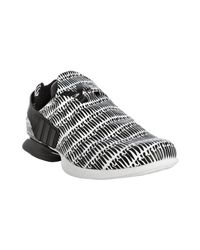 Y-3 | Adidas Black and White Printed Light Runner Sneakers for Men | Lyst