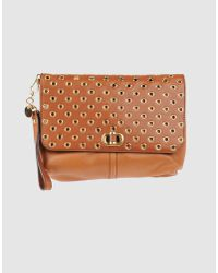 Alexander McQueen | Brown Demanta Faithful Leather Clutch | Lyst