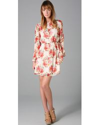 Alice + Olivia | Natural Brenna Bell Sleeve Dress | Lyst