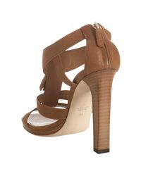 Gucci | Brown Camel Leather Marrakech Tassel Detail Sandals | Lyst