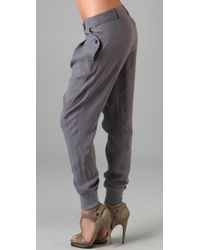 James Jeans | Gray Heather Grey Utility Harem Pant | Lyst