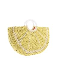 kate spade new york | Yellow With A Twist Lemon Slice Tote | Lyst