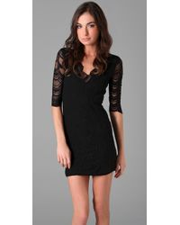 Nightcap - Black Deep V Victorian Lace Dress - Lyst