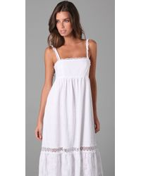 OndadeMar - White Bohemian Sands Cover Up Dress - Lyst