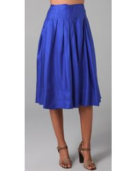 Rachel Roy | Blue Swing Skirt | Lyst