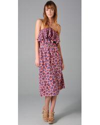 Rebecca Taylor - Purple Pom Pom Halter Dress - Lyst