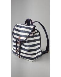 Splendid   Blue Striped Canvas Backpack   Lyst