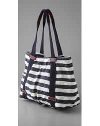 Splendid | Blue Striped Canvas Tote | Lyst