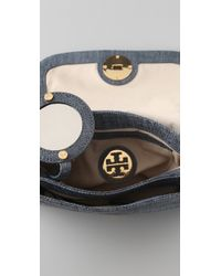 Tory Burch - Blue Tory Turnlock Linen Leather Mini Bag - Lyst