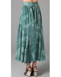 Vena Cava - Green Monarchy Silk Crepe Skirt - Lyst