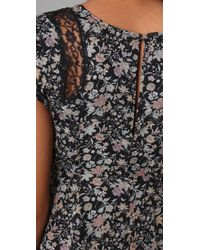 Winter Kate - Gray Goldfield Floral Dress - Lyst