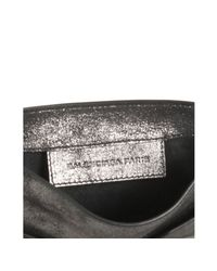 Balenciaga - Black Metallic Calfskin Milky Way Papier Crossbody Bag - Lyst