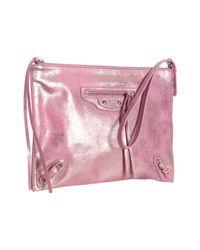 Balenciaga | Pink Fuchsia Calfskin Milky Way Papier Wristlet | Lyst