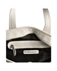 BCBGeneration | White Embossed Faux Leather 'nadia' Tote | Lyst