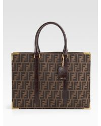 Fendi | Brown Classico No. 4 East/west Tote | Lyst