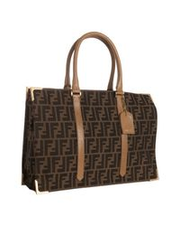 Fendi | Brown Tobacco Zucca Canvas Classic No. 4 Tote Bag | Lyst
