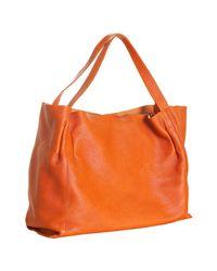 Furla - Orange Patchouli Leather Fluorite Shopper Tote - Lyst