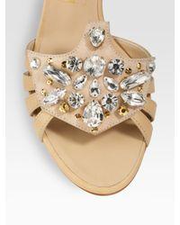 Giuseppe Zanotti - Natural Jeweled Sandals - Lyst