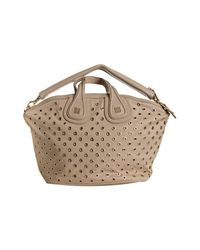 Givenchy - Natural Beige Grommet Nylon Nightingale Medium Top Handle Bag - Lyst